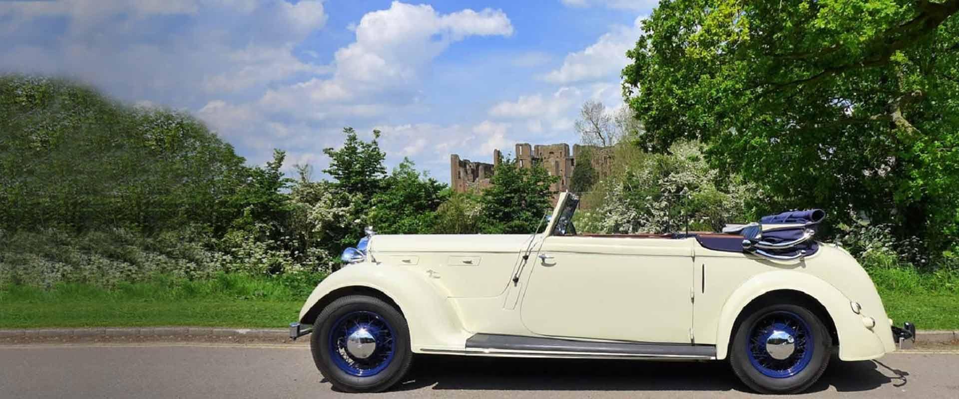 Vintage Rover Wedding Car